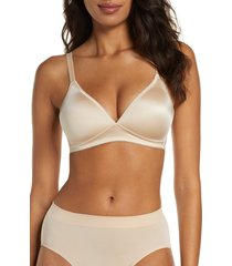 women's wacoal basic beauty soft cup bra, size 36d - beige