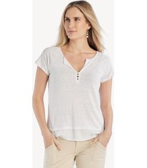 sanctuary women's flirt mix tee in color: white jasmine size large from sole society