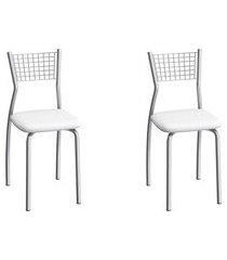 conjunto de cadeiras aço carbono compoarte florença 2 peças c121