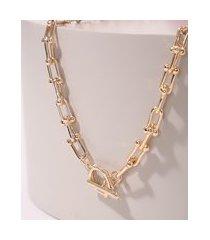 colar feminino com corrente dourado