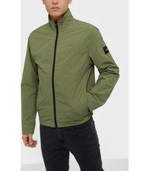 calvin klein crinkle nylon blouson jacket jackor green