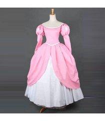 ariel little mermaid pricess pink dress ariel cosplay costurmes ladies