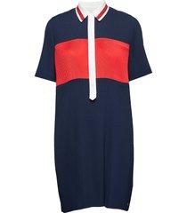 frances dress ss, 40 jurk knielengte blauw tommy hilfiger
