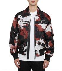 dolce & gabbana camouflage bomber jacket