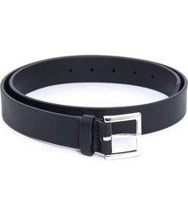 orciani black saffiano leather belt