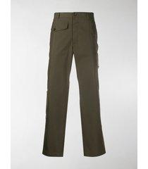 alexander mcqueen cotton straight-leg trousers