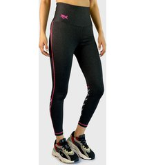 legging everlast long band nifty gris - calce ajustado