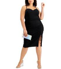 city studios trendy plus size side-cinched dress