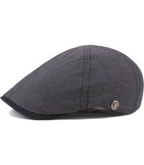 unisex berretto esagonale in cotone traspirabile con visiera protettiva da radiazione solare