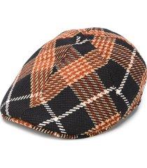 tagliatore plaid flat cap - black