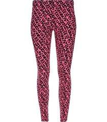 legging sport animal print color rosado, talla xl