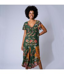 macacã£o pantacourt estampa jaguar m verde - verde - feminino - dafiti