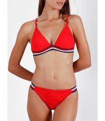 bikini admas 2-delig driehoekig bikinisetje beach rood