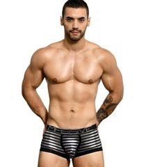 andrew christian massive glam stripe boxer zwart silver