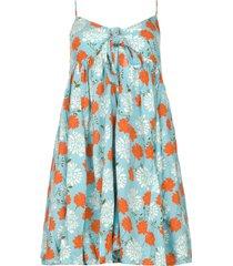 jurk met bloemenprint julia  blauw