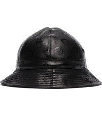 marine serre logo pattern bucket hat - black