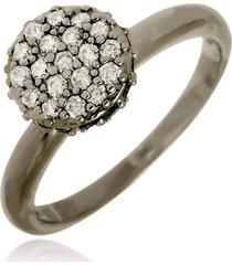 anel chuveirinho di capri semi jóias x ródio negro