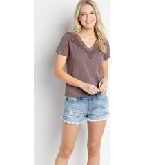 kancan™ womens classic non-stretch medium button fly 3in shorts blue - maurices