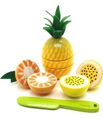 brinquedo kit frutinhas corte abacaxi maracuja laranja faca