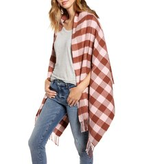 women's madewell small buffalo plaid cape scarf, size - (nordstrom exclusive)
