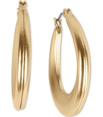 lucky brand gold-tone tapered oval hoop earrings