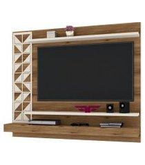 painel home suspenso para tv até 60 polegadas mosaic canela/off white - frade movelaria