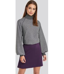 na-kd party high waist a-line skirt - purple