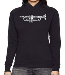 la pop art women's word art hooded sweatshirt -trumpet
