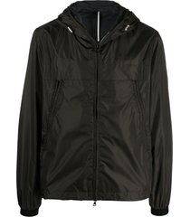 low brand forest night green hooded jacket