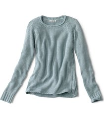 garment-dyed rollneck cotton sweater