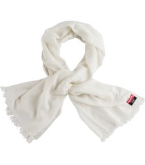 supreme long knitted scarf - white