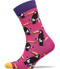 toucan sock underwear socks regular socks rosa happy socks