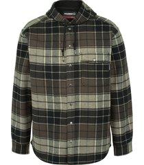 wolverine men's bucksaw bonded shirt jac charcoal plaid, size s