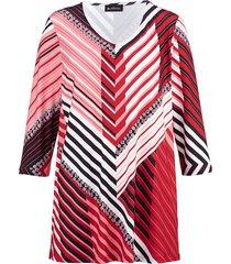 shirt m. collection rood::zwart::wit