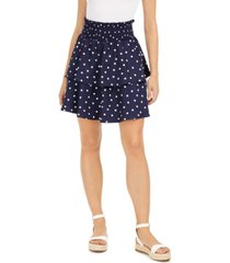 maison jules printed tiered skirt, created for macy's