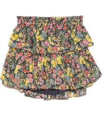 ruffle mini skirt in night sky glow