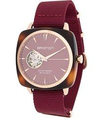 briston watches clubmaster watch - red