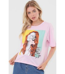 camiseta my favorite thing(s) good things take time rosa - rosa - feminino - algodã£o - dafiti