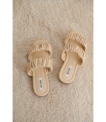 na-kd shoes ballerinaskor med dubbla remmar - offwhite