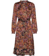 cardi dress knälång klänning brun minus