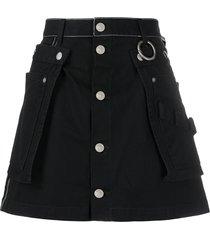 diesel utility belt flared skirt - black