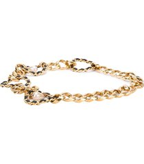 chanel pre-owned chain link belt - yellow