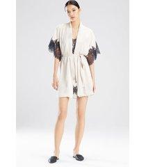 natori l'amour short sleeves sleep & lounge bath wrap robe, women's, size s natori