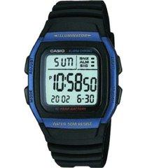reloj casio digital w-96h-2a caballero negro