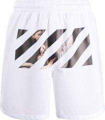 off-white caravaggio angel mesh shorts