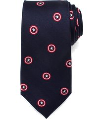 men's cufflinks, inc. 'captain america' silk tie, size regular - blue