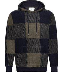 conner check fleece hoodie hoodie trui groen les deux