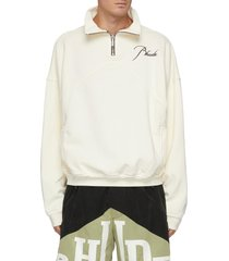 embroidered logo anorak cotton sweatshirt