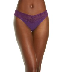 women's natori bliss perfection thong, size one size - red