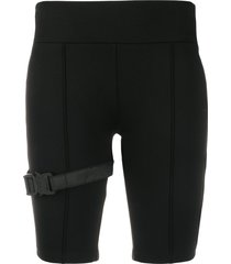 1017 alyx 9sm buckle detail fitted shorts - black